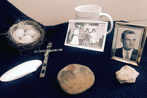 Items that symbolize our fathers were brought by attendees.